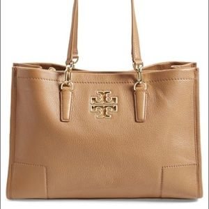 Tory Burch Britten East West Camel Leather Large